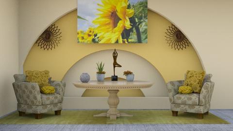 Sunflower Template - by Jahsoftball_