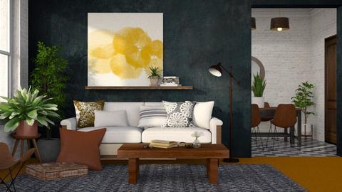 Orange Carpet - Living room  - by Kelli Mallory