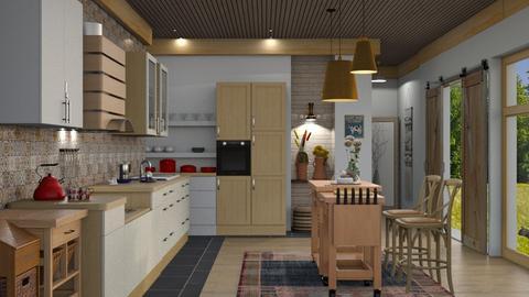 farmhouse - Kitchen  - by nat mi