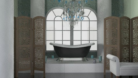 Dramatic Bath - Glamour - Bathroom  - by PomBom
