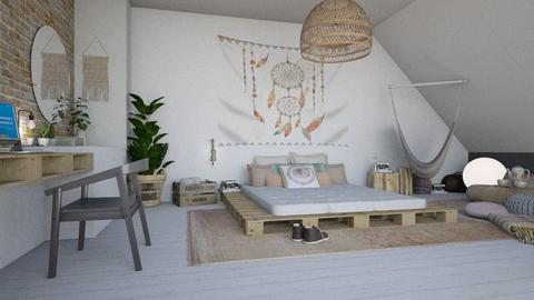 boho chic bedr - Bedroom  - by liat simchi