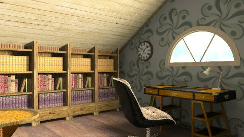 Antique Attic - Rustic - Office  - by architect_09