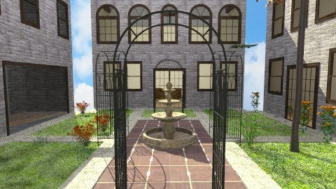 Enclosed Courtyeard - Classic - Garden - by thekidd