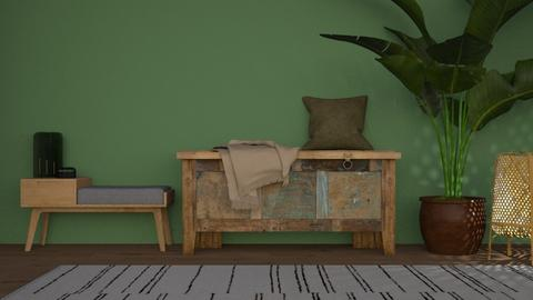 GREEN N WOOD - Living room  - by Niva T