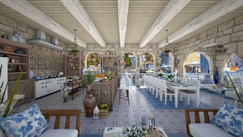 Design 73 Big Greek Family Kitchen - Kitchen  - by Daisy320