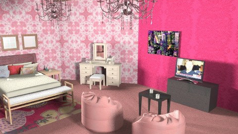 Rapunzel room - Feminine - Bedroom - by Tramaine Higgins