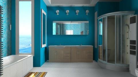 blue - Modern - Bathroom  - by Nhezi