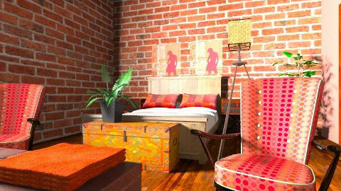 indie bedroom - Rustic - Bedroom  - by sillybilly9