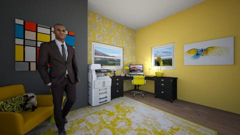 yellow office - Office  - by catcrazy20