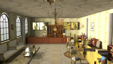 rich bank in proyect - Rustic - Living room  - by ATELOIV87