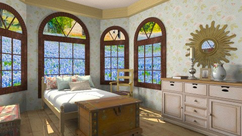 rustic slumber - Rustic - Bedroom  - by designx123