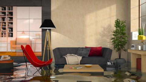 Flooded2021 Home Interior - Eclectic - Living room  - by itsbinflooded