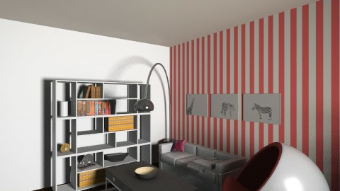 New 60s - Retro - Living room  - by PaperBoi