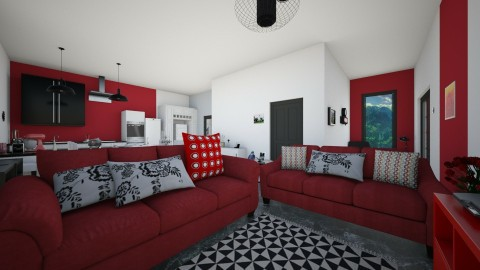house - Vintage - Living room  - by yonfray rojas