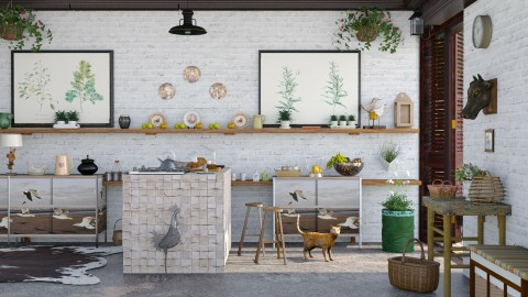M_East - Rustic - Kitchen  - by milyca8
