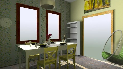 Jidelna - Dining room - by couhy26