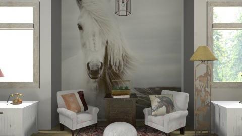 rustic design - Living room - by PaperFlower