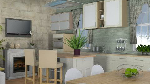 Cotswolds Kitchen One - Country - Kitchen  - by awsomeamy123