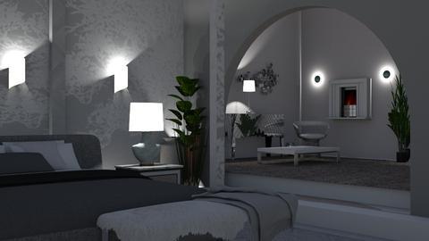 Gray  - Modern - Bedroom  - by Sue Bonstra