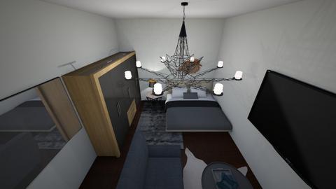 grey room - Bedroom  - by bad ass