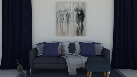 navy and silver - Living room  - by DarcieM88
