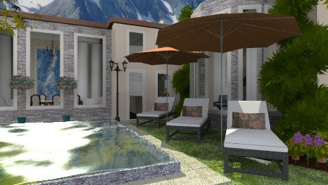 Mountain Home - Classic - Garden  - by Baustin