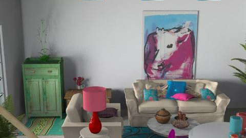 Living in Colour - Eclectic - Living room  - by hunny