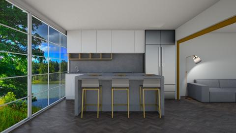 Grey and Gold Kitchen - Kitchen  - by Tanem_Cagla