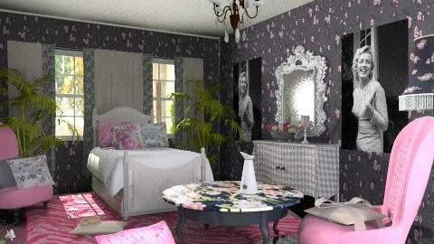 for girls only - Vintage - Bedroom  - by chania
