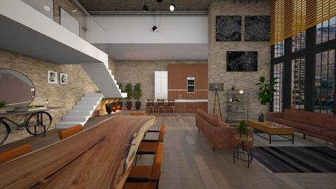 Old Factory Modern - Living room  - by diegobbf