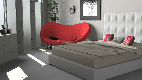 Recamara minimalista - Minimal - Bedroom  - by vianeyrulez
