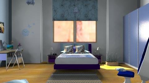 Blue butterfly - Eclectic - Bedroom - by mrschicken