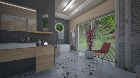 Cherry Blossom Bathroom - Bathroom  - by Tuija