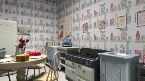 retro kitchen - Retro - Kitchen  - by LadyVienna