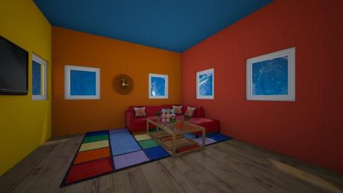 Rainbow  - Living room  - by XenaChico