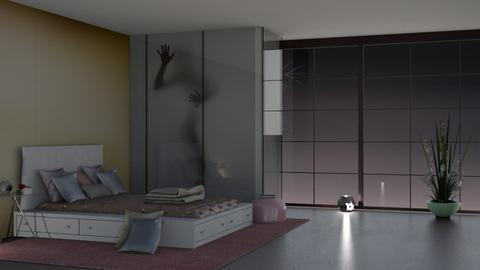 my blurry art bed room 01 - Bedroom  - by nat mi