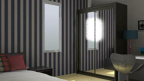 Studentroom - Minimal - Bedroom - by hennievanhennie