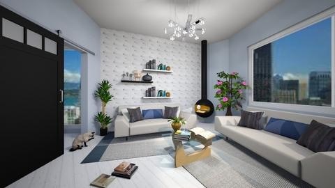 Chic Azure Living - Living room - by guinealove4