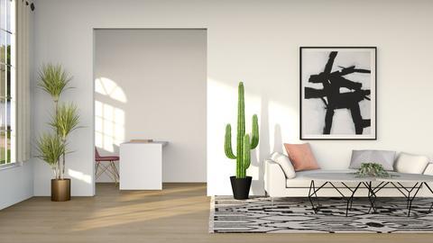 Boho Modern Minimal - Living room  - by artsy_naturelover