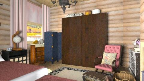 log cabin bed - Rustic - Bedroom  - by mrschicken
