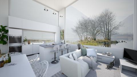 white and open interior - by leenvandesande
