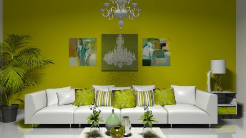 Lime Green - Minimal - Living room  - by deleted_1566988695_Saharasaraharas