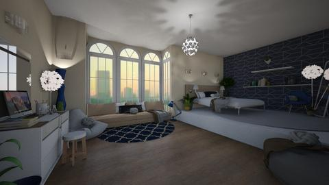 Blue - Eclectic - Bedroom  - by tieganclayton