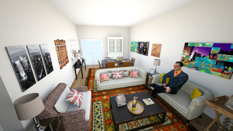 Driss Flat view 4 - Classic - Living room - by cleyenne