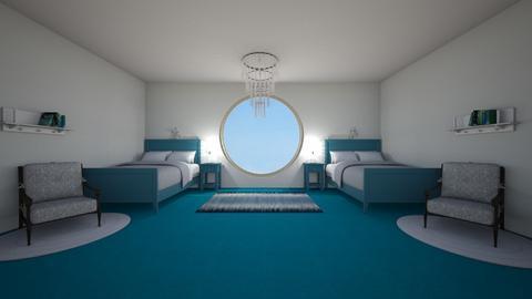 Blue Bedroom - by HorseLoverArtist