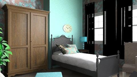 blue - Classic - Bedroom - by hugibugi