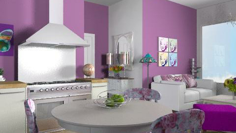 purple apartment - Vintage - Kitchen  - by yasemin04