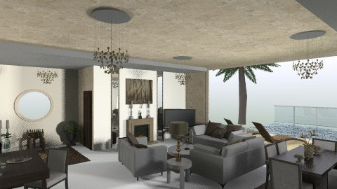 house 62 - Glamour - Living room  - by filiopap