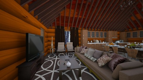 Logged Cabin Living - Country - Living room  - by deleted_1486240105_VermontianRain