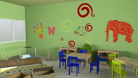 paud rusa - r1v1 - Country - Kids room  - by aryantono